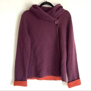 AIDA Made in Italy Knit Sweater Purple and Orange